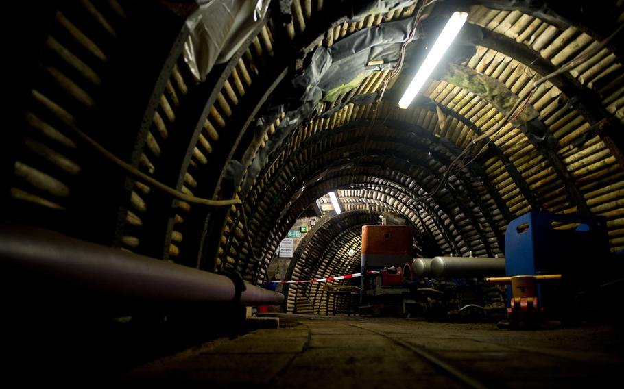 The underground gallery of the Saarland Mining Museum in Bexbach, Germany, is 600 feet long.