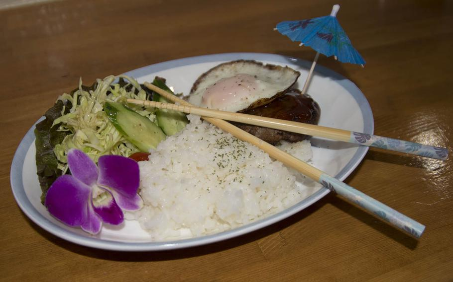 Loco moco is one of the most popular dishes at Mahalo Cafe near Marine Corps Air Station Iwakuni, Japan.