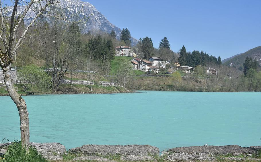 Lake Barcis, a mountain lake about a half hour's drive from Aviano Air Base, is known for its turquoise-hued water.
