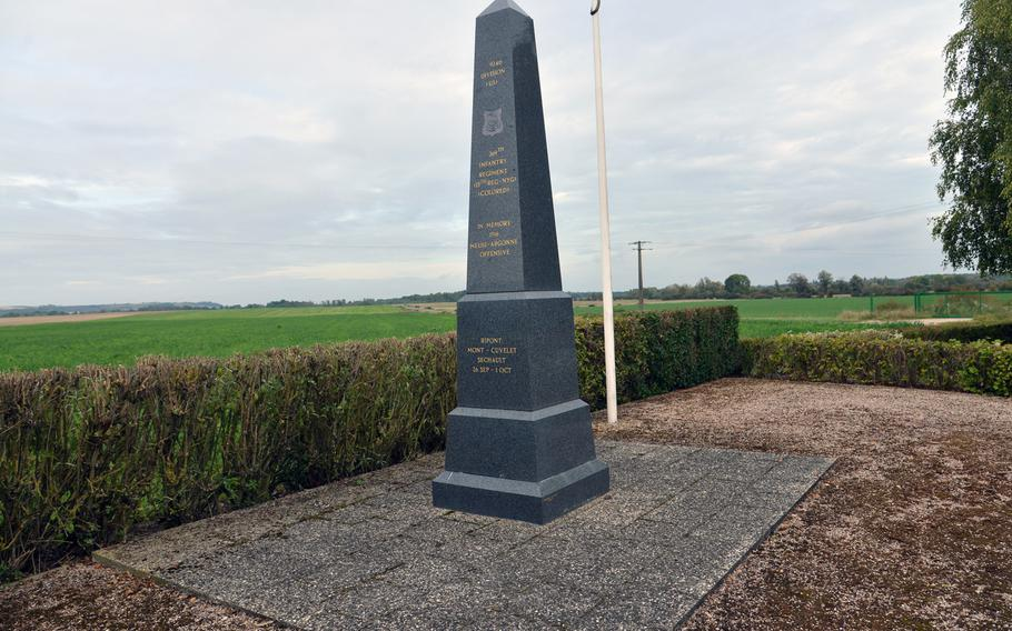 The monument to the 93rd Division's 369th Infantry Regiment near S?chault, France. A segregated unit of African-Americans nicknamed the Black Rattlers - they fought with the French army during World War I and earned another nickname: Harlem Hellfighters.