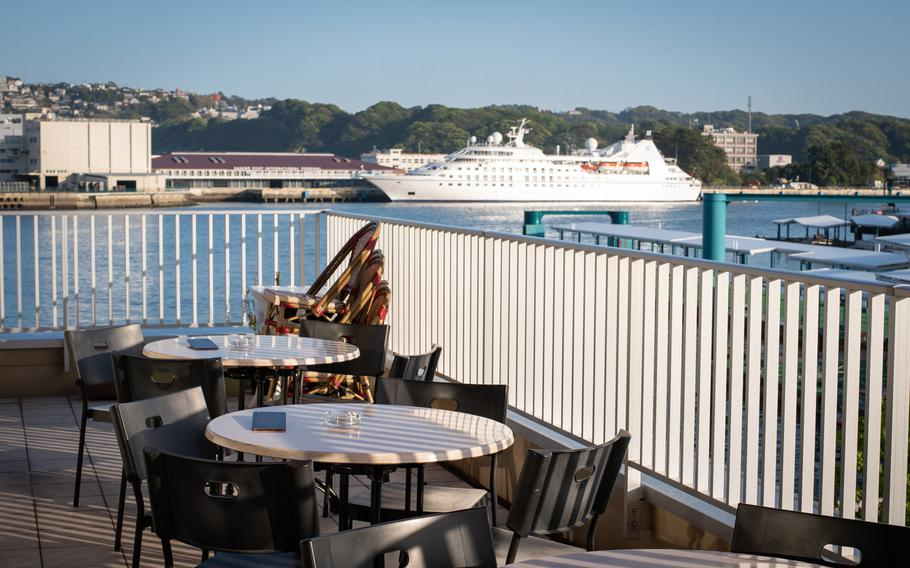 Pinoccio — a brick-oven pizza joint just a 20-minute walk from Sasebo Naval Station — boasts a beautiful view from a balcony overlooking the ocean.