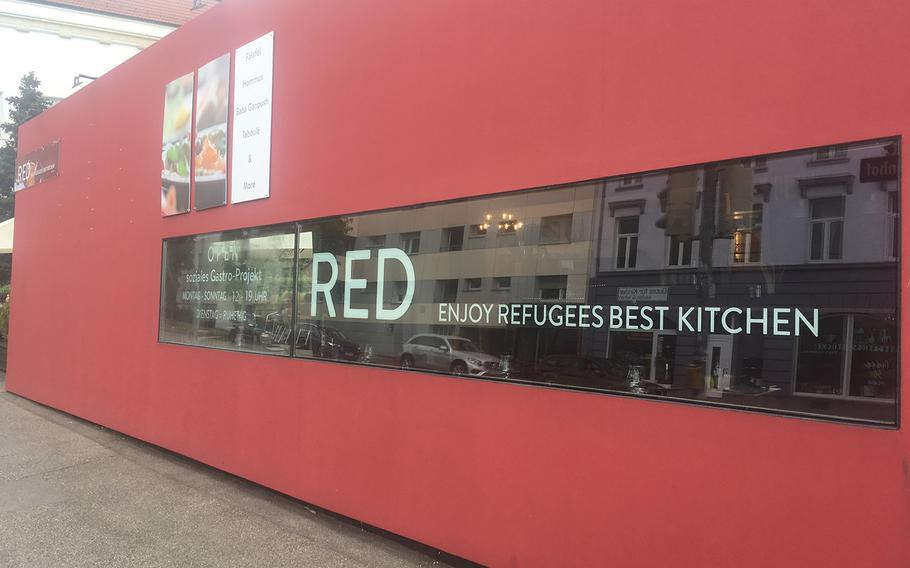 Red, a new restaurant in Stuttgart, Germany, serves food from a kitchen staff that includes members of the local migrant community.