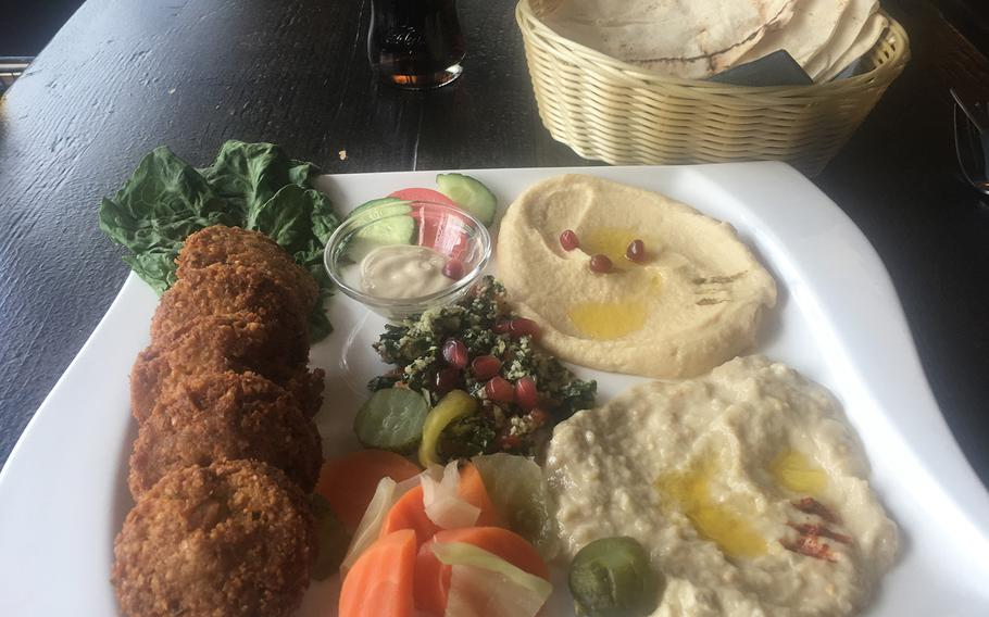 Falafel and hummus are the main offerings on the menu at Red, a new restaurant in Stuttgart, Germany's north side.