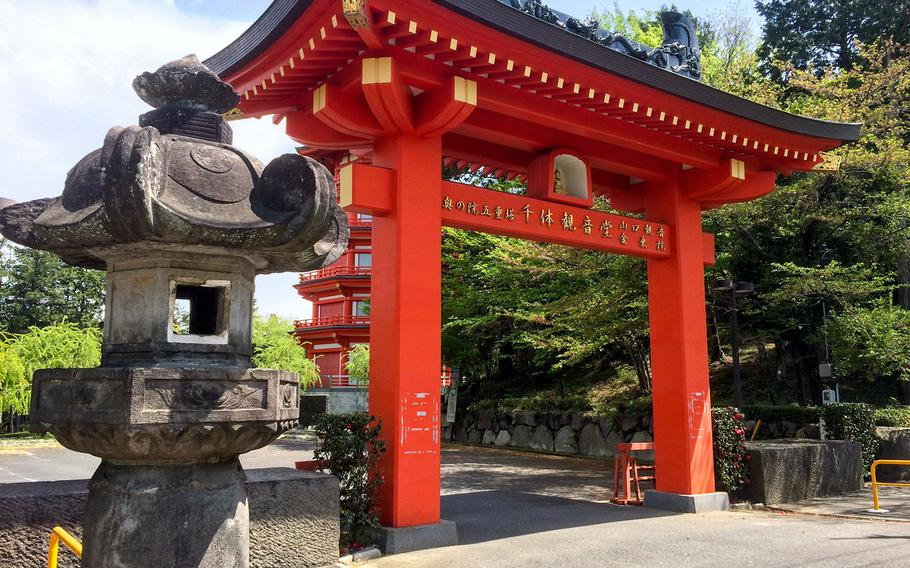 A temple near the Seibu Dome is well worth leaving the bicycle trails to check out.