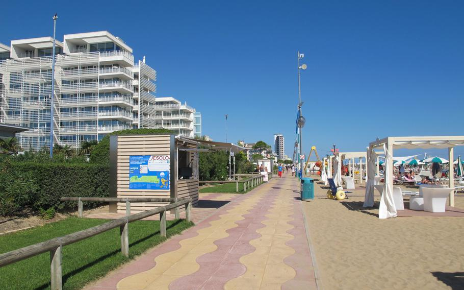 The seaside resort of Jesolo, Italy, is packed with hotels and restaurants and 9 miles of beach. One of them, Bau Bau Beach, caters to dogs and their owners.