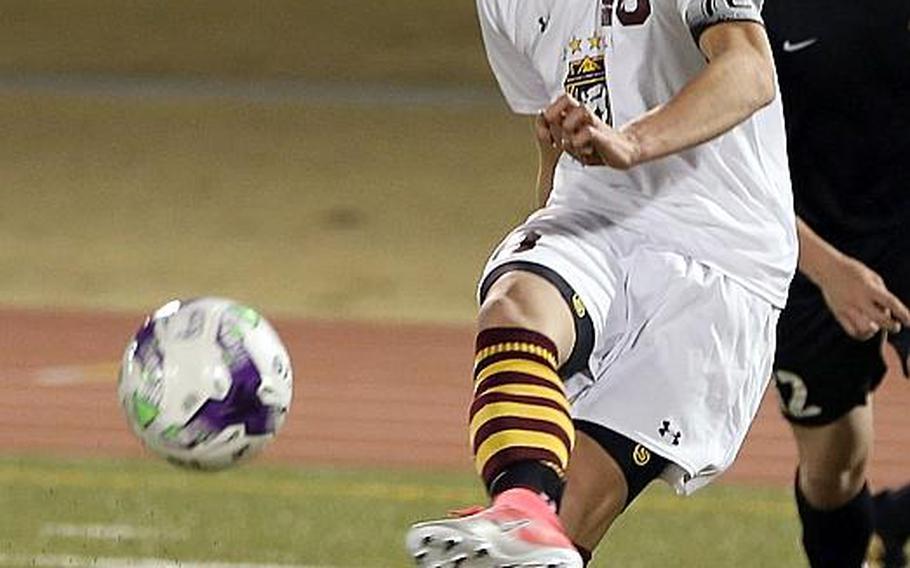Matthew C. Perry junior striker Kai Lange brings a Pacific single-season record 72 goals into the Far East Division II Soccer Tournament.