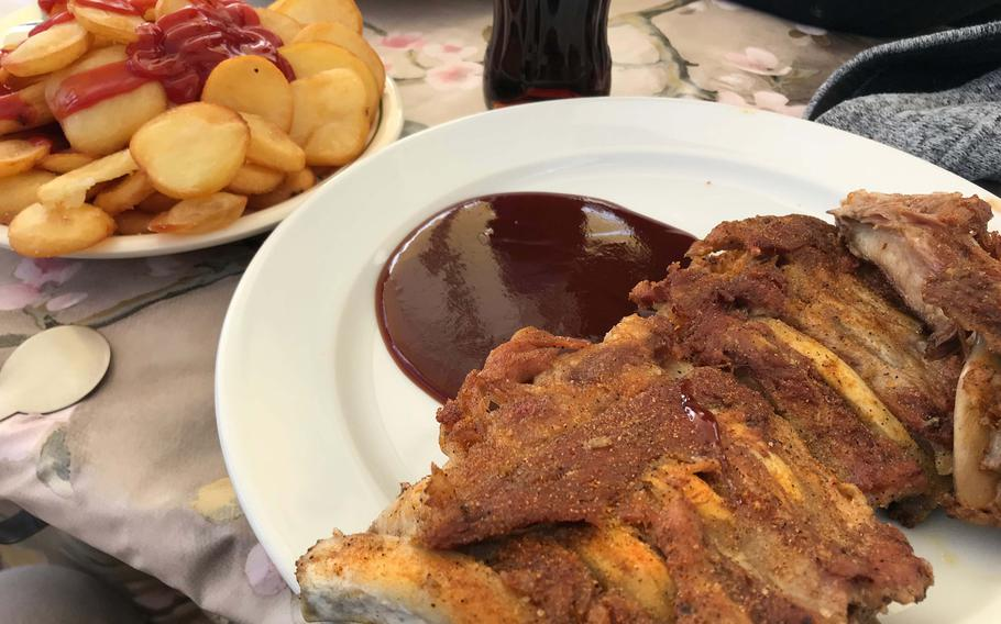 The home fries and ribs are something special at Hakim's Imbiss and Steak House in Heidelberg, Germany.