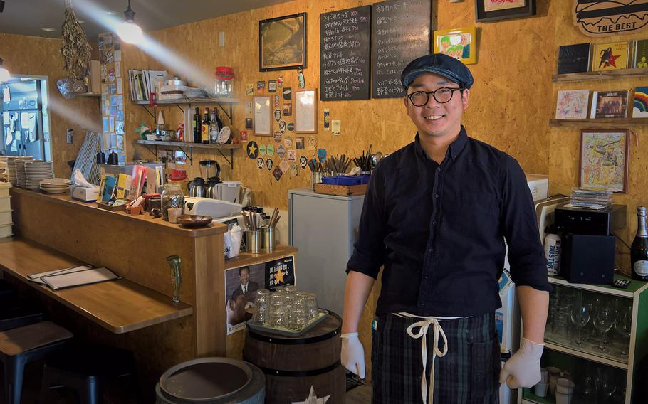 Harada Shinya opened Broccoli Grill three years ago with the help of his wife and brother in law. He learned to cook in Tokyo, and his team makes a burger as good as any you can get in the States.