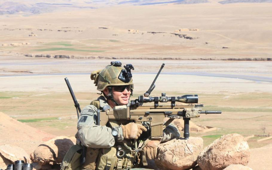 Gunnery Sgt. Jonathan Gifford received a posthumous Navy Cross for his role in a battle in Badghis province, Afghanistan, on July 29, 2012.