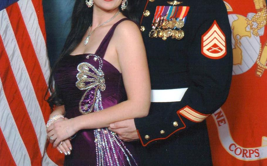Gunnery Sgt. Daniel Price, seen here with his wife, Rachel, was posthumously awarded the Silver Star for his heroic actions in Afghanistan in 2012.