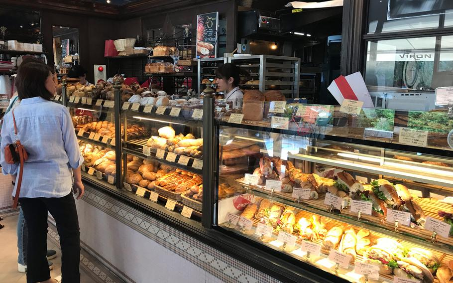 Viron offers a selection of delicious bread, sandwiches and pastries made in the downstairs bakery.