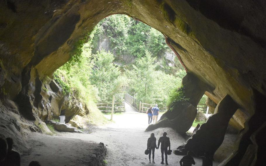 Grotte Caglieron wasn't that crowded during a recent weekend visit, though it's likely to get more visitors when work is completed to restore more access and when summer vacations start.
