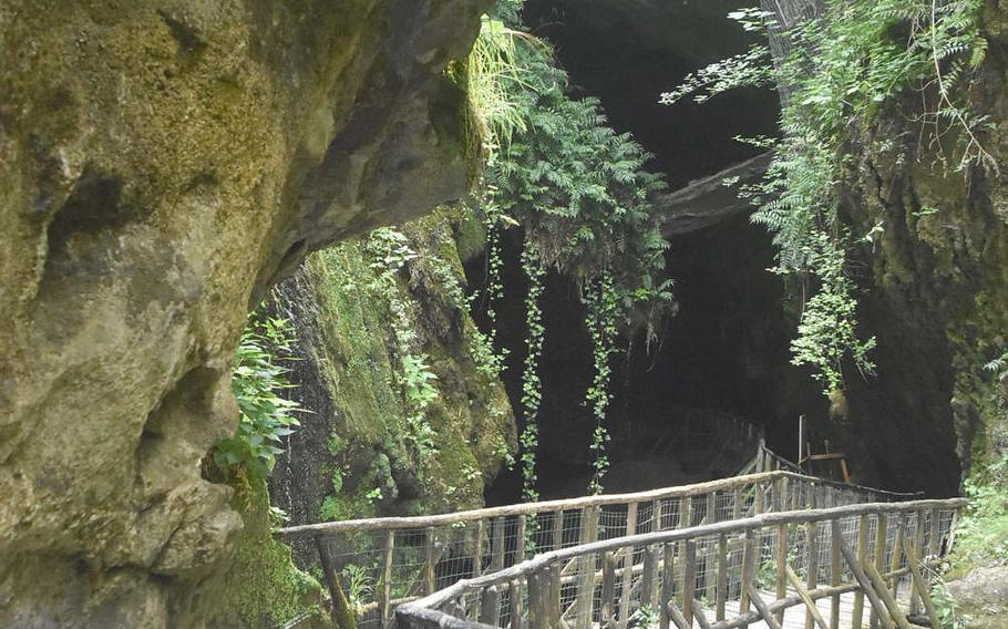Visitors have been able to see only part of Grotte Caglieron for several months. That's supposed to change June 15, when walkways currently judged to be unsafe are restored.