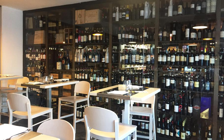 Grangusto has a large wine selection. The restaurant is part of the  Market Grangusto, which has a supermarket, a bakery, a wine shop and a bar.