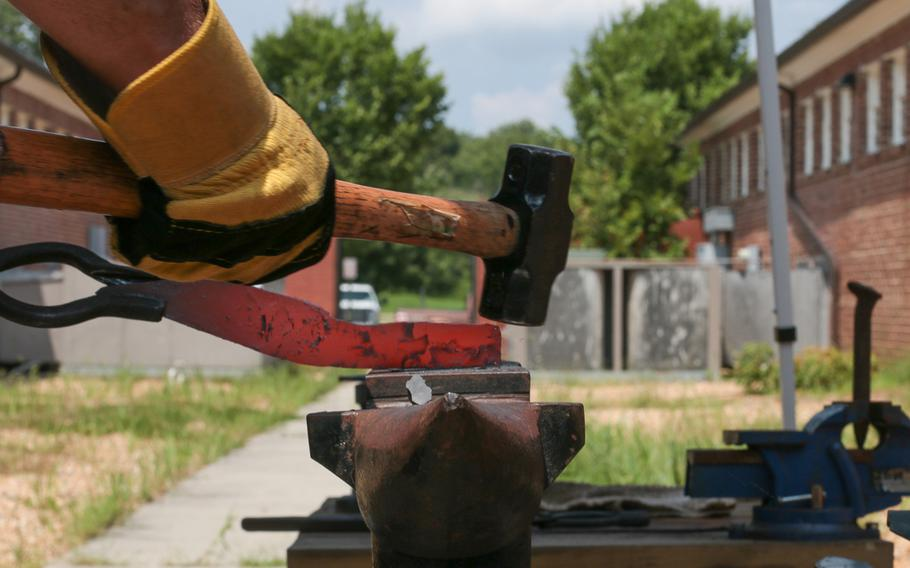 The Workhouse Arts Center in Lorton, Va. is home to a variety of different art projects aimed at veterans. Recovery Forge is one such program, run by two veterans, who pass on the skills of blade forging to servicemembers, veterans and first responders.