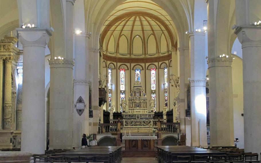 The Chiesa di Santa Corona in Vicenza, Italy, is a municipal museum open most days of the week. Mass is celebrated there at 5:30 p.m. on Saturdays.