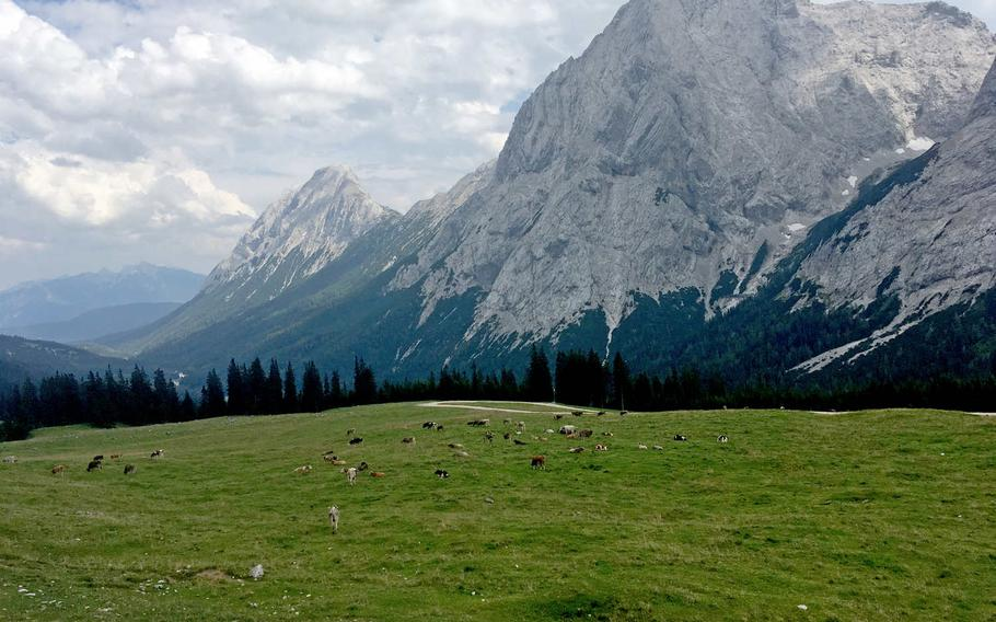 Ehrwad Alm offers lots of hiking trails in the Tyrol mountains. The Austrian range is only about a 30-minute drive from Garmisch-Partenkirchen, Germany.