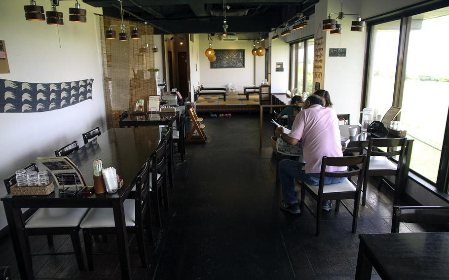 At Hanakinah Okinawa Soba, customers can choose to sit at tables, the bar or even sit for theire meal inside the traditional tatami seating area. Carlos M. Vazquez II/Stars and Stripes