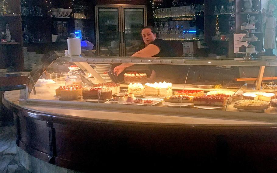There are usually more than a dozen different cakes to choose from on any given day at Grand Cafe Planie, a downtown Stuttgart eatery.