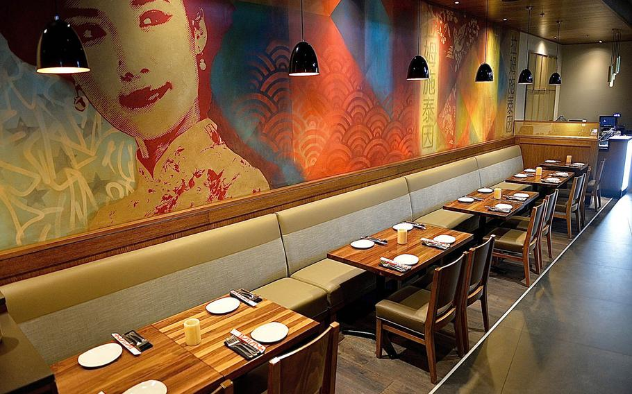 The dining room of P.F. Chang's at Ramstein Air Base. The restaurant sets itself apart with excellent food, good service and an outstanding overall dining experience.