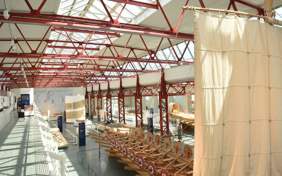 The Museum of Ancient Seafaring in Mainz, Germany, displays replicas of late Roman patrol vessels, dug up in the city in the early 1980s. The museum traces the development of early shipbuilding and includes a workshop where visitors can watch staff build reproductions of ancient ships.