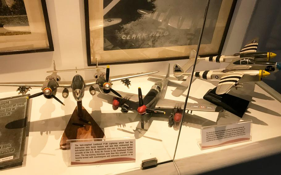 The Clark Museum has dozens of plastic models of planes that flew at the former Clark Air Force Base, ranging from biplanes to combat jets and massive transport aircraft from the 1980s.