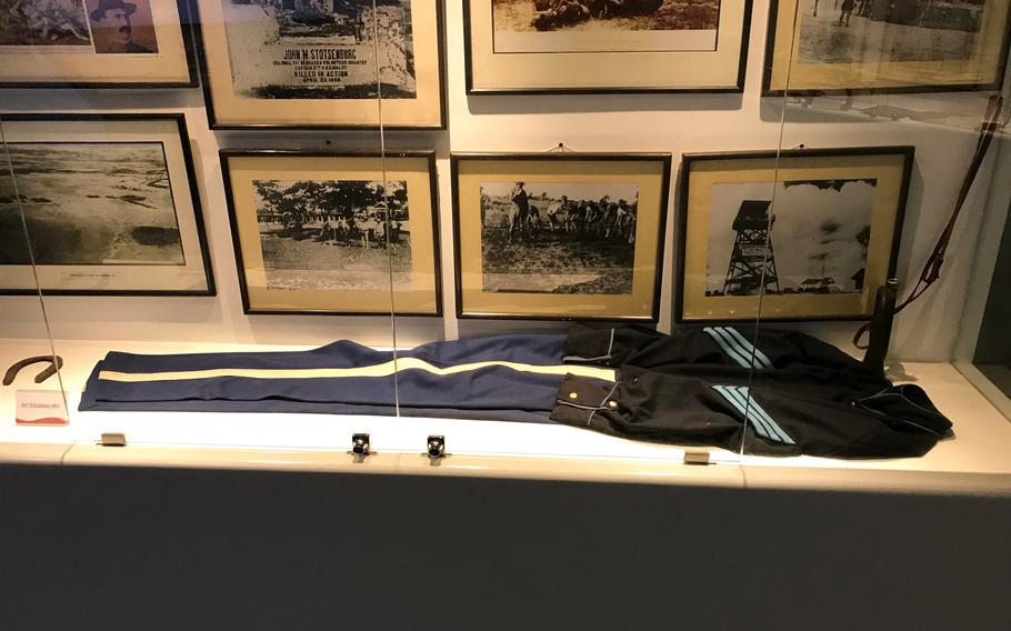 Among the items on display at the Clark Museum is an American soldier's uniform from the turn of the 20th century.