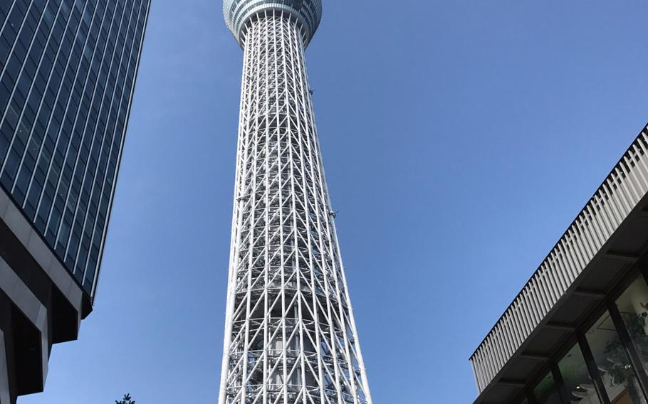 Tokyo Skytree is located in the East Tokyo neighborhood of Oshiage, a short walk across the Sumida River from Asakusa.