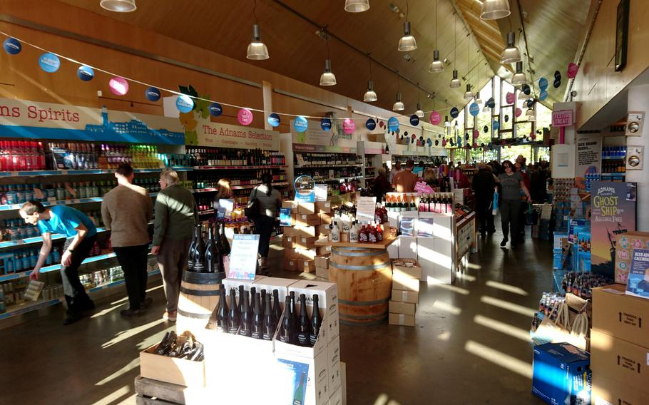 Inside the Adnams Southwold Store and Cafe in Southwold, England, Saturday, October 20, 2018.