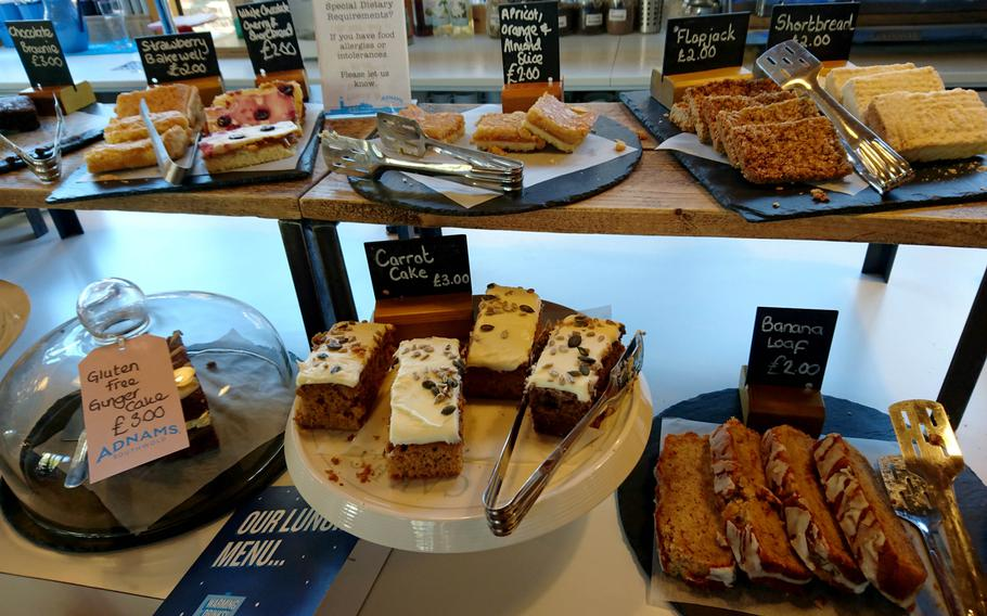 Baked goods at the Adnams Southwold Store and Cafe in Southwold, England, Saturday, October 20, 2018. Freshly baked goods range from 2 to 3 pounds ($2.61 to $3.92).