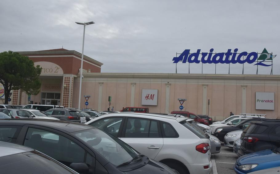The Adriatico 2 mall in Portogruaro, Italy, is less than a half-hour's drive from Aviano Air Base. It features a Carrefour supermarket, food court and more than 100 stores.