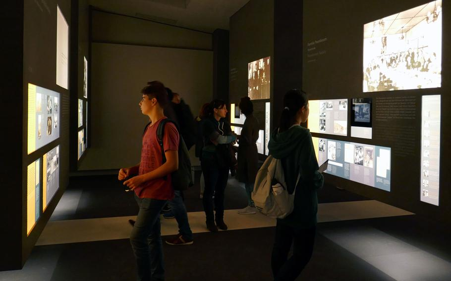 In the ''Room of Families,'' visitors to the Memorial to the Murdered Jews of Europe information center read about various Jewish families thought Europe and their fate in the Holocaust.