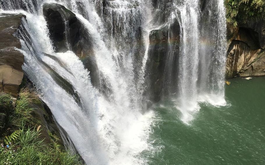 The Shifen waterfall offers a stunning view and a nice escape from the town center.