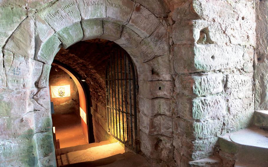 A passageway that leads to a room in Nanstein Castle in Landstuhl where, legend has it, the lord of the castle, Franz von Sickingen, died from wounds he received in a fruitless quest defending the fortress from a siege.