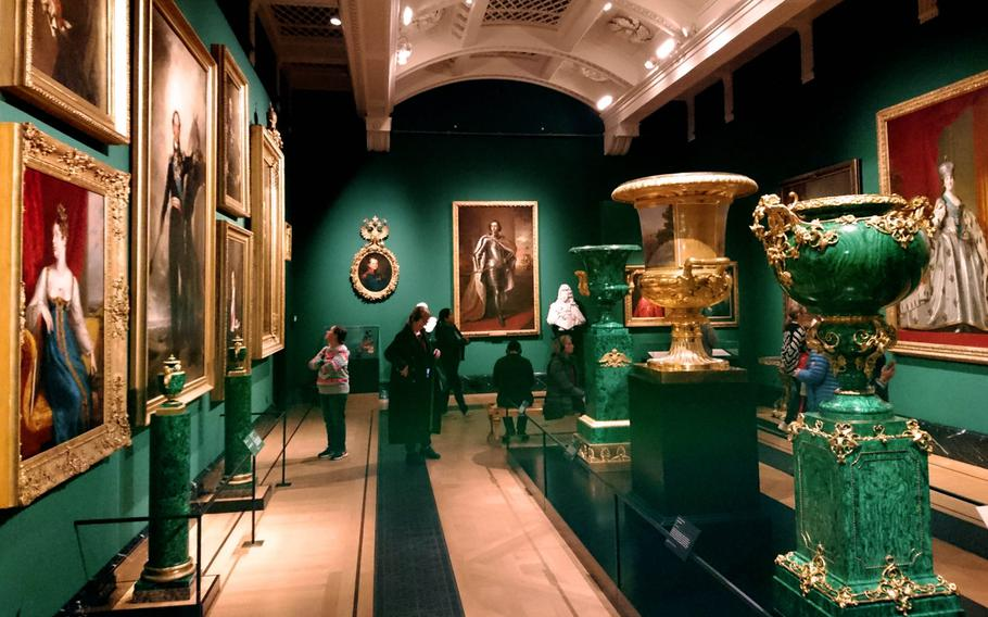 Inside the Queen's Gallery at Buckingham Palace, London, on Dec. 15. The gallery hosts rotating exhibitions of art and treasure from the Royal Collection held in trust by the Queen for the public.