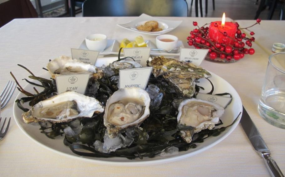 Massimo Gusto in Vicenza specializes in oysters, offering a dozen or more kinds. On a recent visit, that included oysters from Omaha Beach, Normandy.