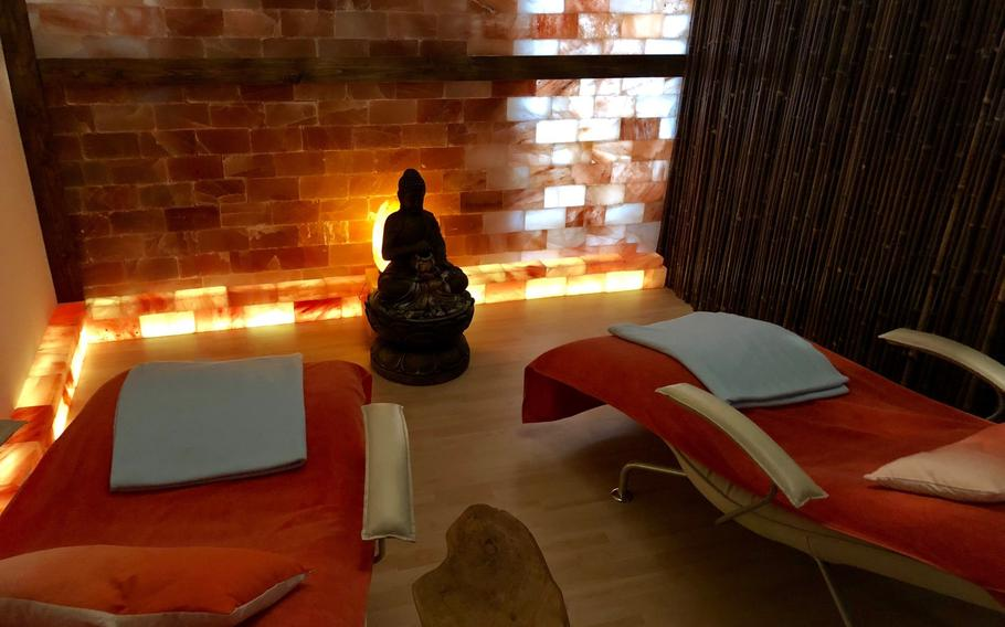 A relaxation room at the Just Float center in downtown Kaiserslautern.