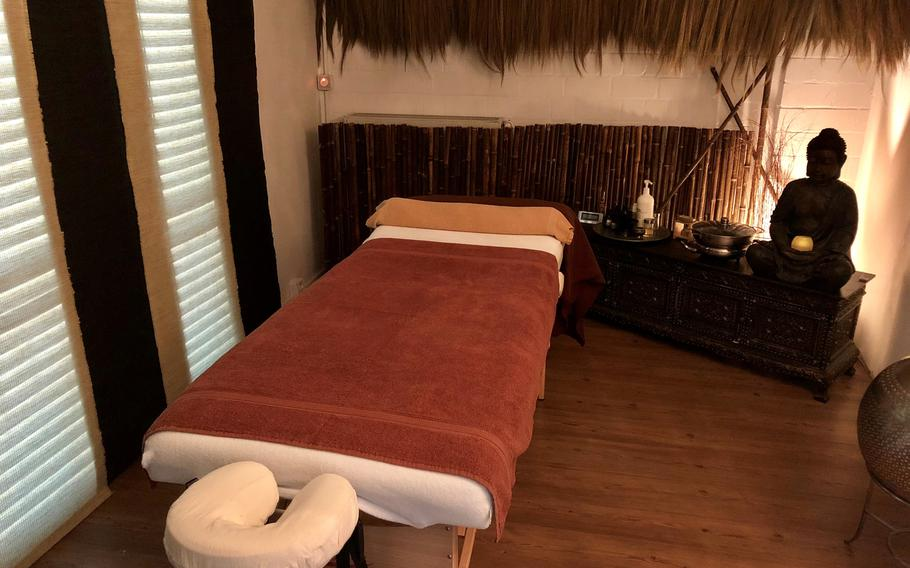 Massage room at the Just Float center. It offers several different Balinese massages to customers.