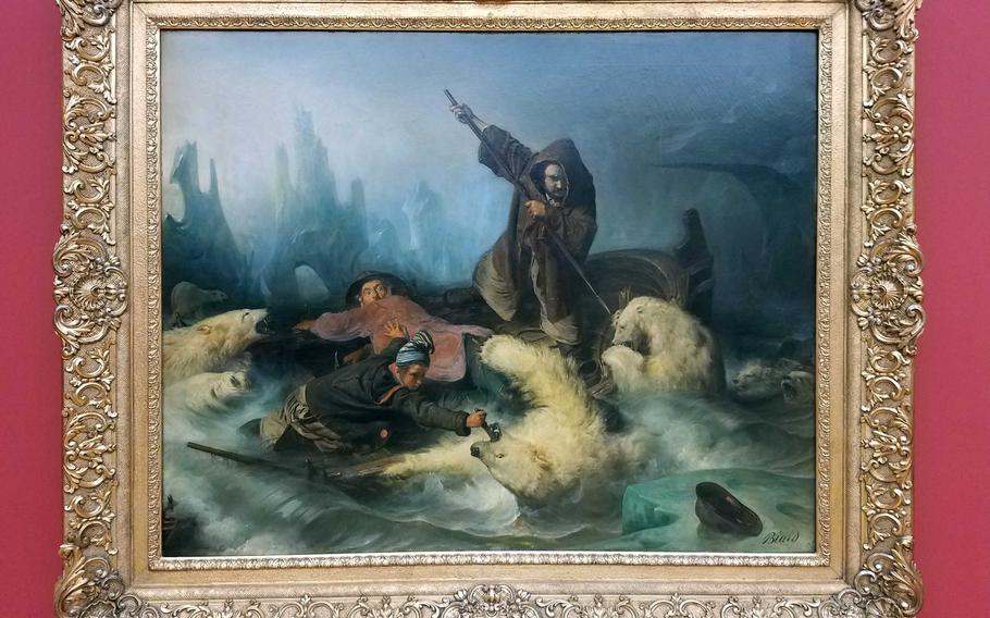 One of the paintings in the fine arts museum in Leipzig, Germany.