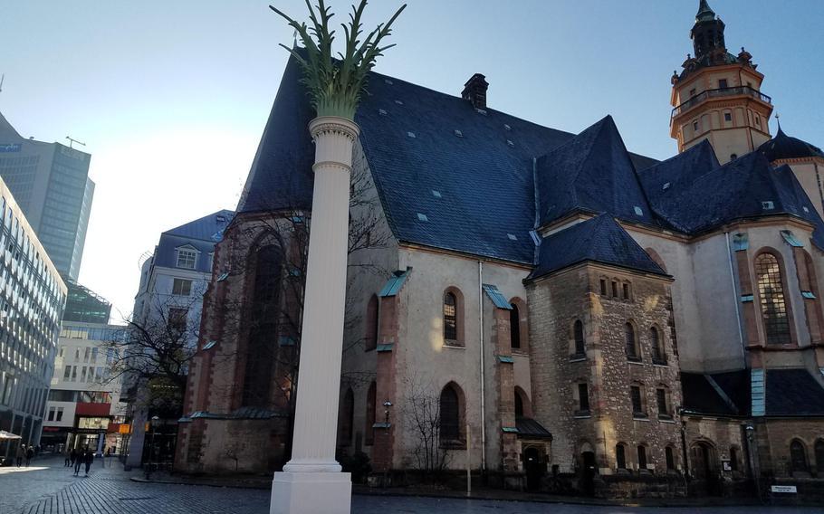 The St. Nicholas Church in Leipzig, Germany.
