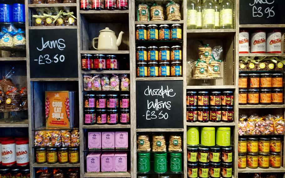 The shop inside of Bill's Restaurant in Bury St Edmunds, England, Feb. 26. Bill's started out in 2001, when Bill Collison opened a small grocery store in Lewes, East Sussex, and now Bill's own products are available in each restaurant location and online.