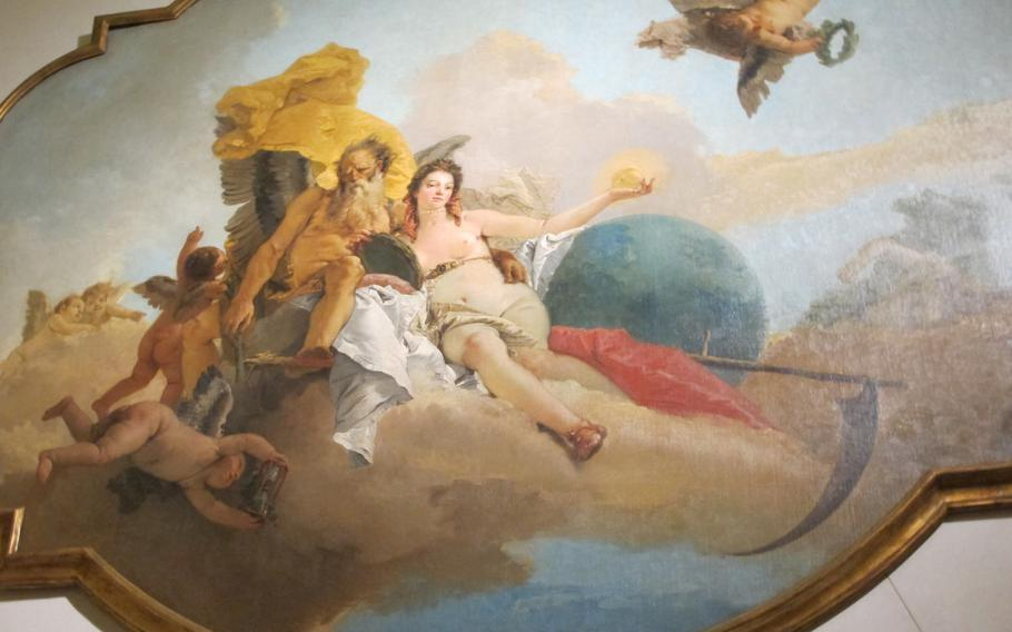 """Giambattista Tiepolo's """"Time Reveals the Truth,"""" influenced by Enlightenment ideas, is among the last magnificent triumph of Venetian painting in Europe. It is on display at the Palazzo Chiericati museum in Vicenza."""
