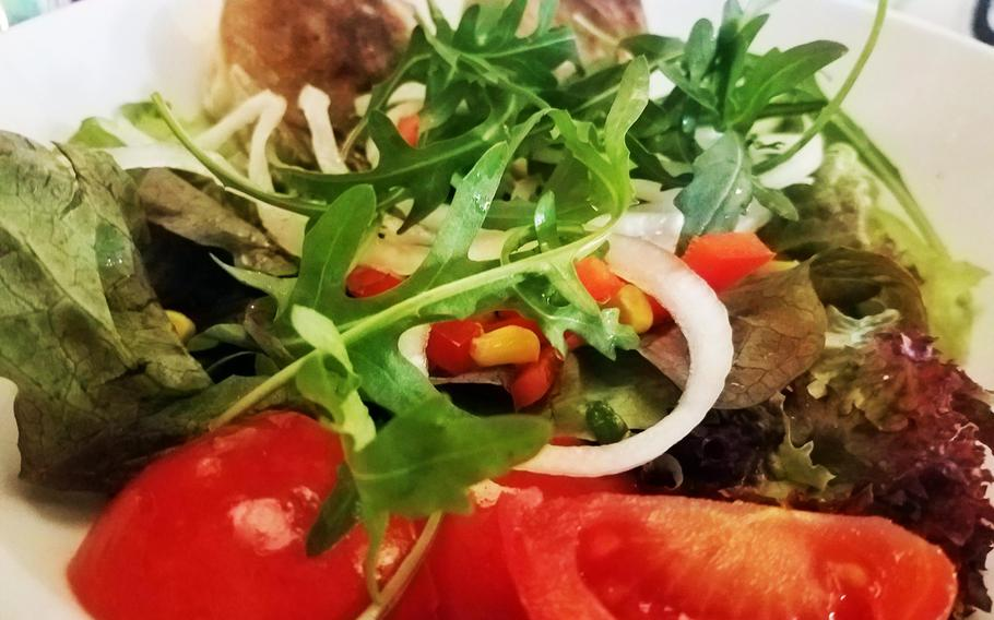 Salads at the Hemingway Cafe in Weiden, Germany, come in generous portions.