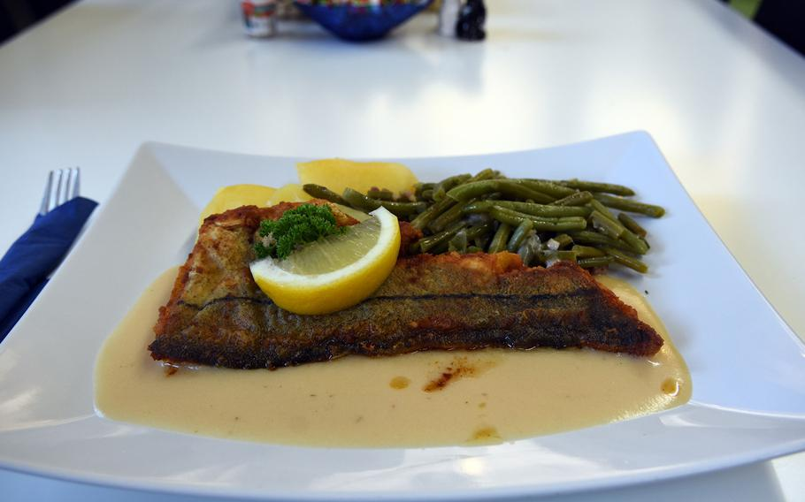 Fisch Schira's daily special on a recent visit was fried haddock with green beans.