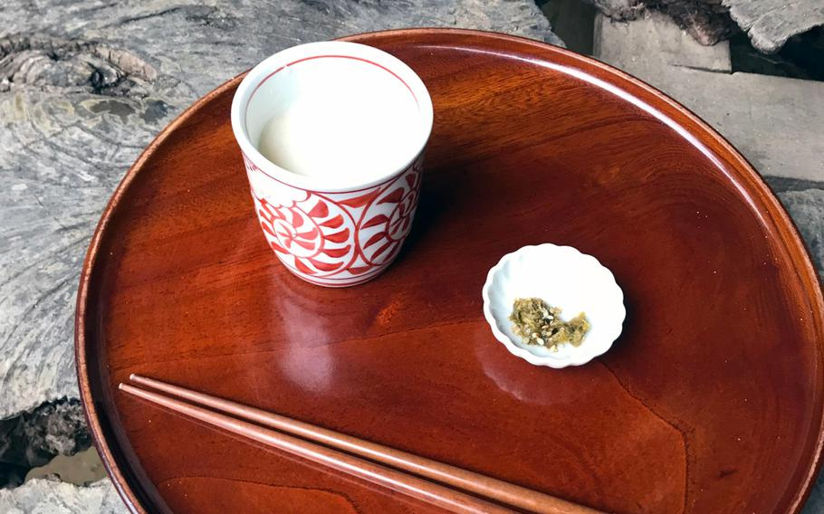 Amazake is a sweet, warm, nonalcoholic drink made by mixing regular and malted rice and heating the mixture for over six hours.