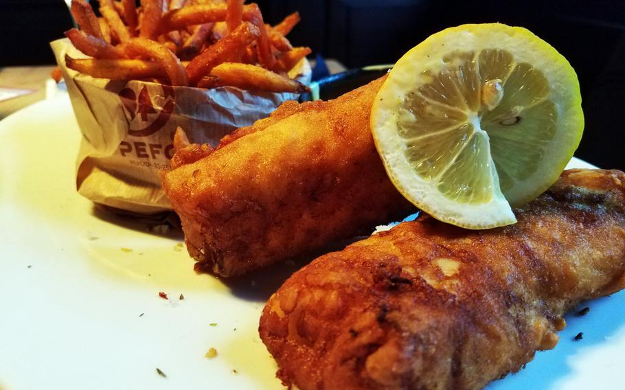 The fish and chips at the Irish Pub in Grafenwoehr, Germany.