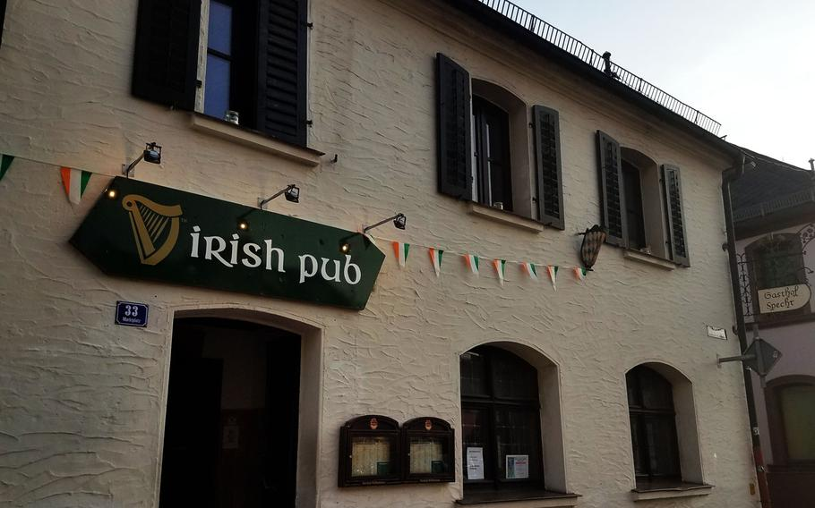 The outside of the Irish Pub in Grafenwoehr, Germany.