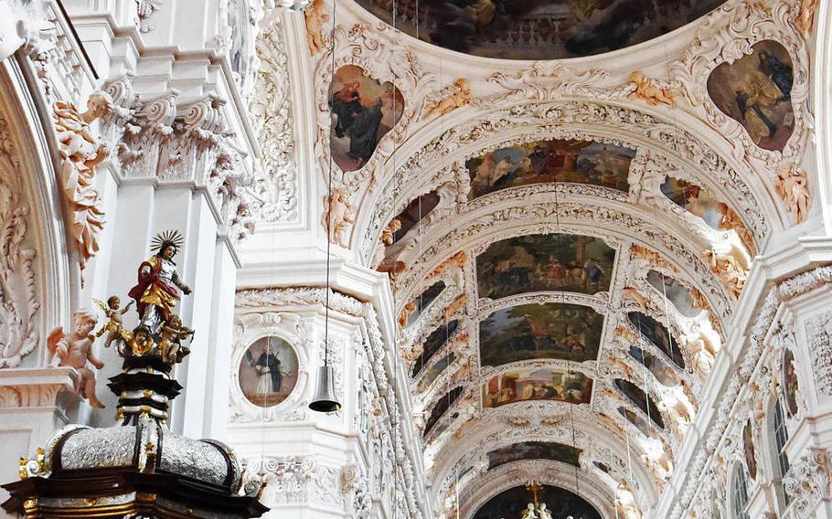 Inside the Waldsassen Basilica, in Waldsassen, Germany.