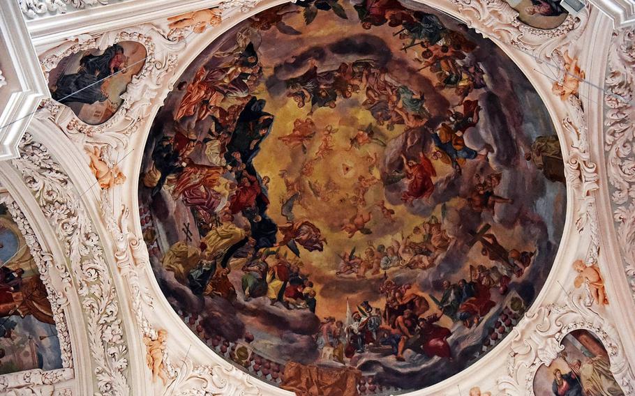 The cupola of the Waldsassen Basilica.