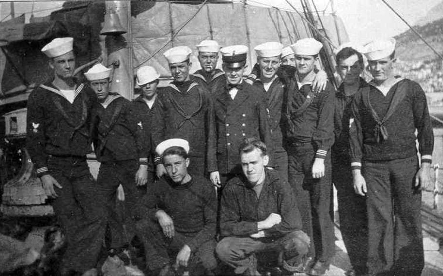 Members of the USS Tampa's crew sometime between 1913 and 1915. The Coast Guard cutter served in World War I. On Sept. 26, 1918, a German submarine sank the ship, killing all 130 men on board.